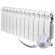 Биметаллический радиатор Rifar Monolit Ventil 350, 12 секций, с нижним правым подключением