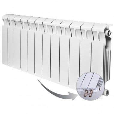 Биметаллический радиатор Rifar Monolit Ventil 350, 12 секций, с нижним левым подключением