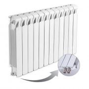 Биметаллический радиатор Rifar Monolit Ventil 500, 12 секций, с нижним правым подключением