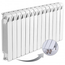 Биметаллический радиатор Rifar Monolit Ventil 500, 14 секций, с нижним правым подключением