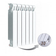 Биметаллический радиатор Rifar Monolit Ventil 500, 6 секций, с нижним правым подключением