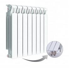 Биметаллический радиатор Rifar Monolit Ventil 500, 8 секций, с нижним правым подключением