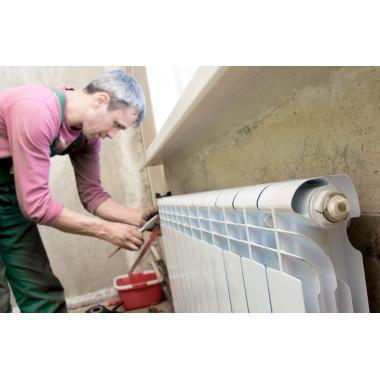Замена радиатора при установленных кранах