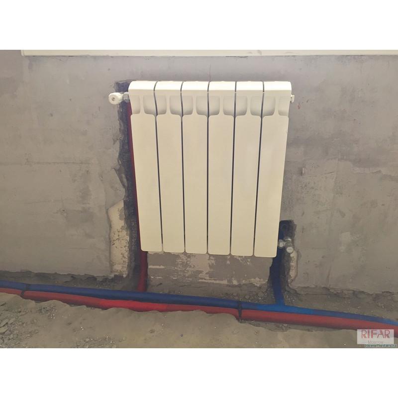 монтаж радиатора отопления с нижним подключением