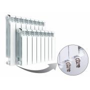 Алюминиевый радиатор Rifar Alum Ventil 500, 4 секции, с нижним левым подключением