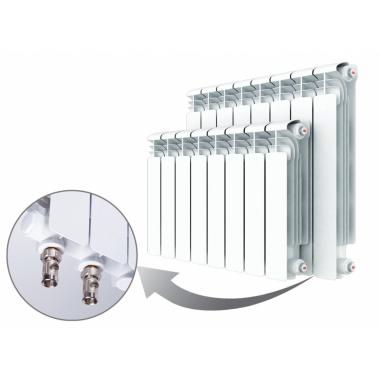 Алюминиевый радиатор Rifar Alum Ventil 500, 5 секций, с нижним правым подключением