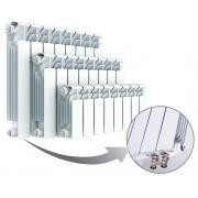 Биметаллический радиатор Rifar Base Ventil 200, 4 секции, с нижним левым подключением