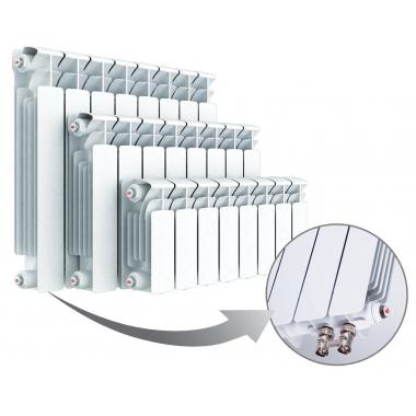 Биметаллический радиатор Rifar Base Ventil 200, 6 секций, с нижним левым подключением
