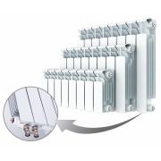 Биметаллический радиатор Rifаr Bаse Ventil 500, 4 секции, с нижним правым подключением