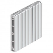 Биметаллический радиатор Rifar Supremo Ventil 500, 4 секции, с нижним подключением
