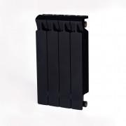 Биметаллический радиатор Rifar Monolit 500, 4 секции Антрацит