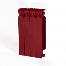 Биметаллический радиатор Rifar Monolit 500, 4 секции Бордо