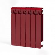Биметаллический радиатор Rifar Monolit 500, 6 секций Бордо