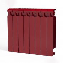 Биметаллический радиатор Rifar Monolit 500, 8 секций Бордо