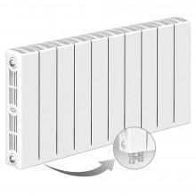 Биметаллический радиатор Rifar Supremo Ventil 350, 10 секций, с нижним левым подключением