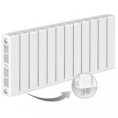 Биметаллический радиатор Rifar Supremo Ventil 350, 12 секций, с нижним левым подключением