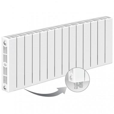 Биметаллический радиатор Rifar Supremo Ventil 350, 14 секций, с нижним левым подключением