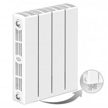 Биметаллический радиатор Rifar Supremo Ventil 350, 4 секции, с нижним левым подключением