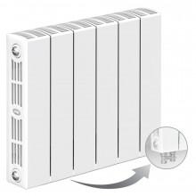 Биметаллический радиатор Rifar Supremo Ventil 350, 6 секций, с нижним левым подключением