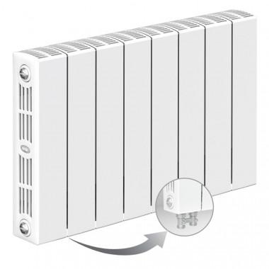 Биметаллический радиатор Rifar Supremo Ventil 350, 8 секций, с нижним подключением