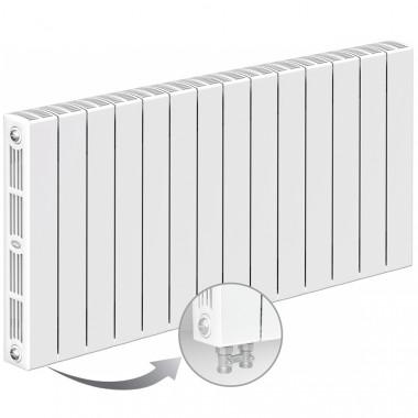Биметаллический радиатор Rifar Supremo Ventil 500, 14 секций, с нижним левым подключением