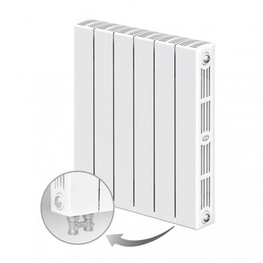Биметаллический радиатор Rifar Supremo Ventil 500, 6 секций, с нижним левым подключением