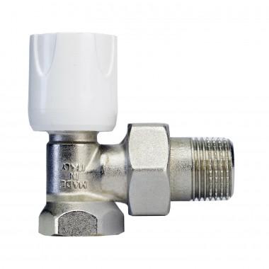 Вентиль Luxor easy RS 102 1/2'' ручной регулирующий угловой для стальных труб (арт. 11022100)
