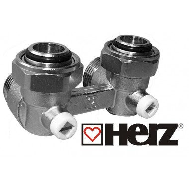 Узел подключения Герц-3000 угловой G3/4 для радиаторов Rifar Monolit, Base Ventil