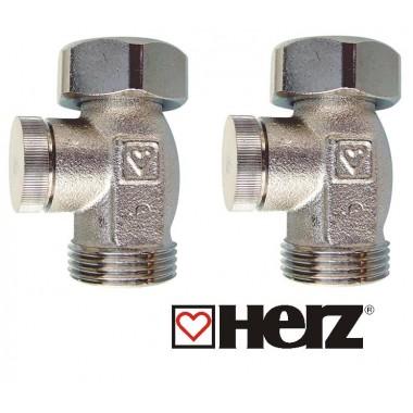 Комплект кранов Herz прямой для радиаторов Rifar Alum Ventil