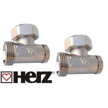 Комплект кранов Herz угловой для радиаторов Rifar Alum Ventil